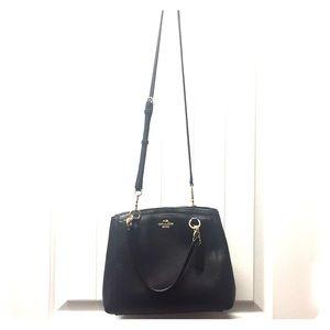 Black coach shoulder/crossbody bag